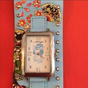 Excellent condition Ed Hardy geisha watch